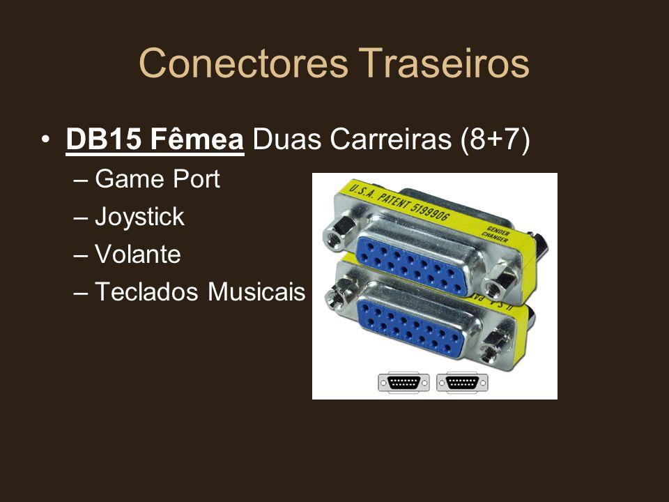Conectores Traseiros DB15 Fêmea Duas Carreiras (8+7) Game Port