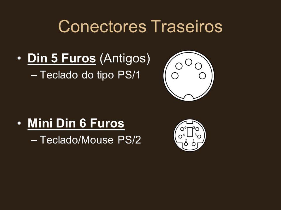 Conectores Traseiros Din 5 Furos (Antigos) Mini Din 6 Furos