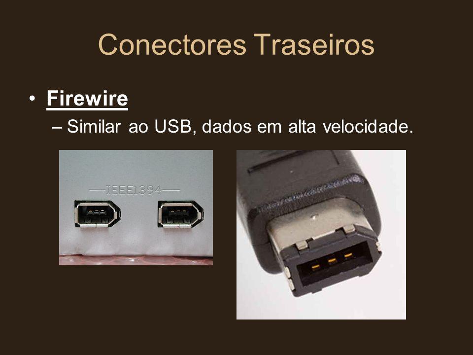 Conectores Traseiros Firewire