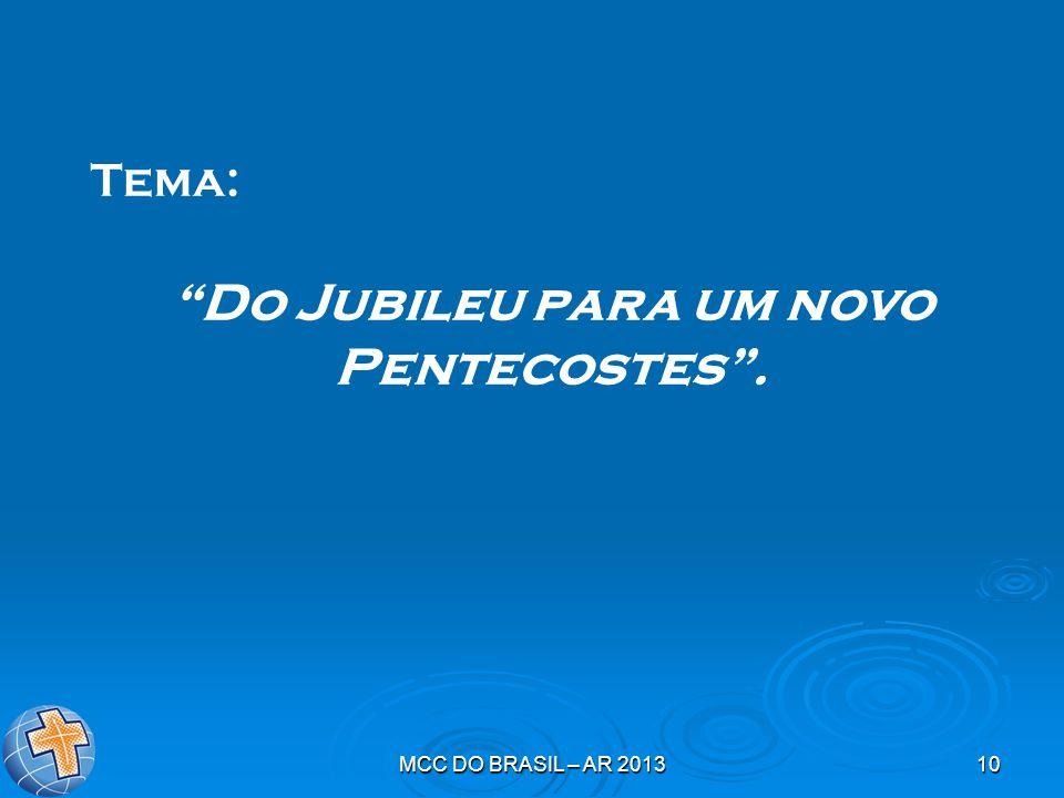 Do Jubileu para um novo Pentecostes .