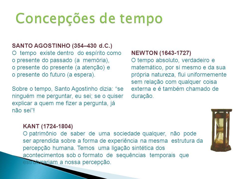 Concepções de tempo SANTO AGOSTINHO (354–430 d.C.)