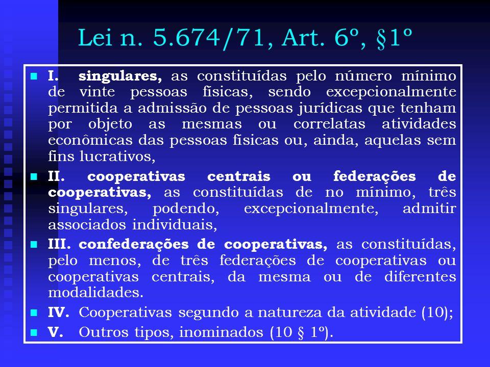 Lei n. 5.674/71, Art. 6º, §1º