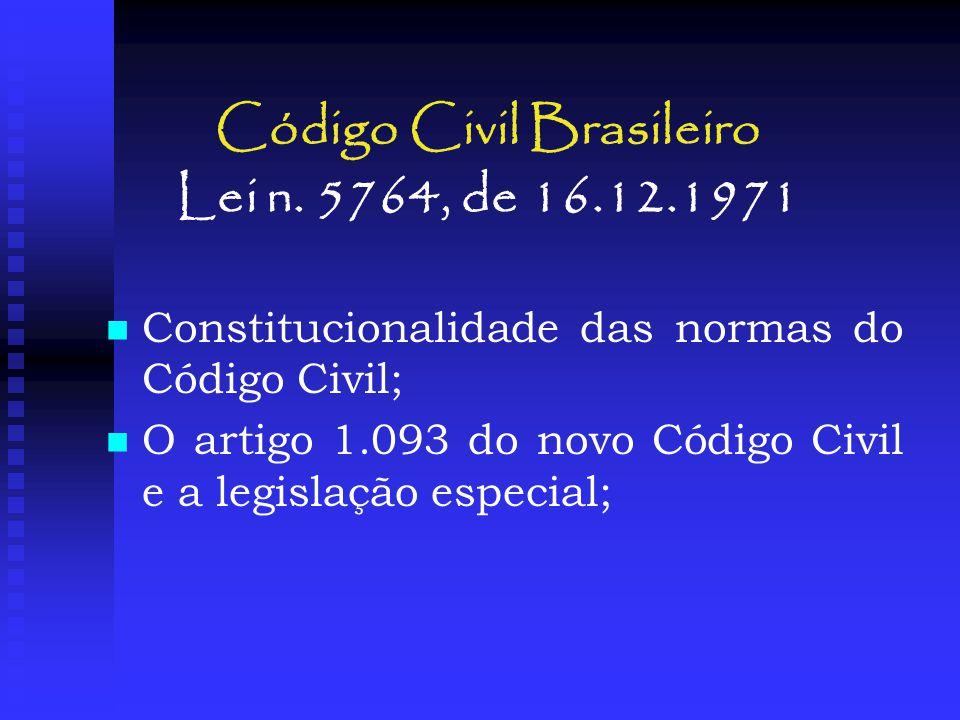 Código Civil Brasileiro Lei n. 5764, de 16.12.1971
