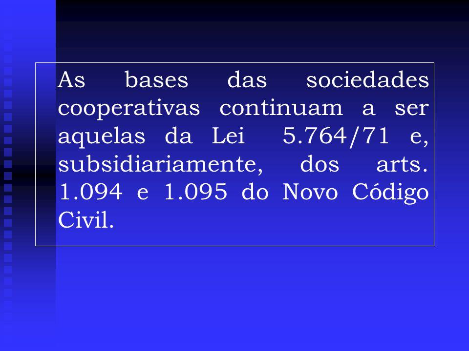 As bases das sociedades cooperativas continuam a ser aquelas da Lei 5