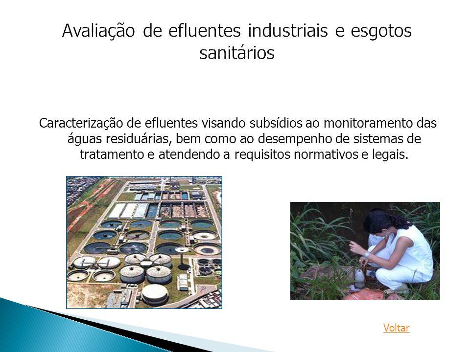 Avaliação de efluentes industriais e esgotos sanitários