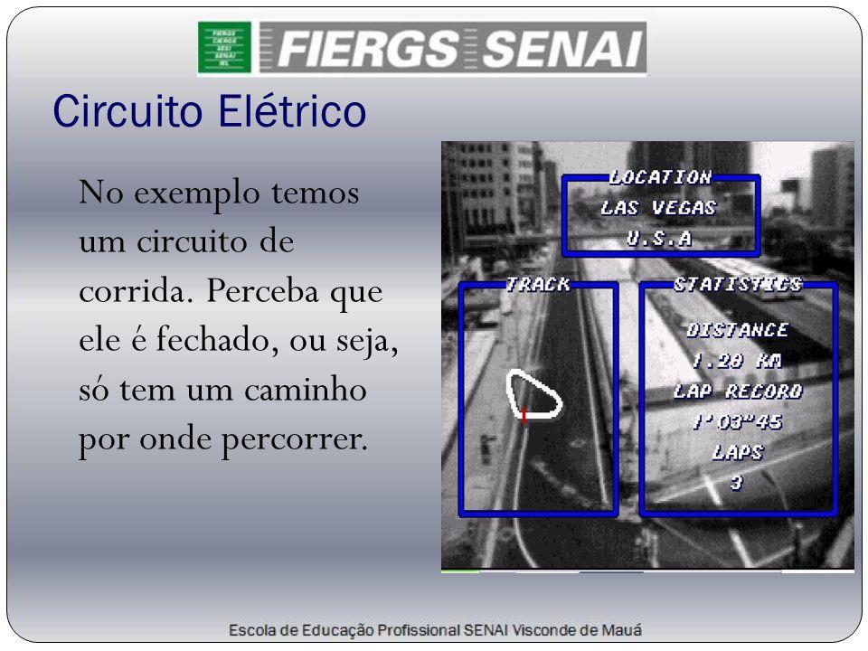 Circuito Elétrico No exemplo temos um circuito de corrida.