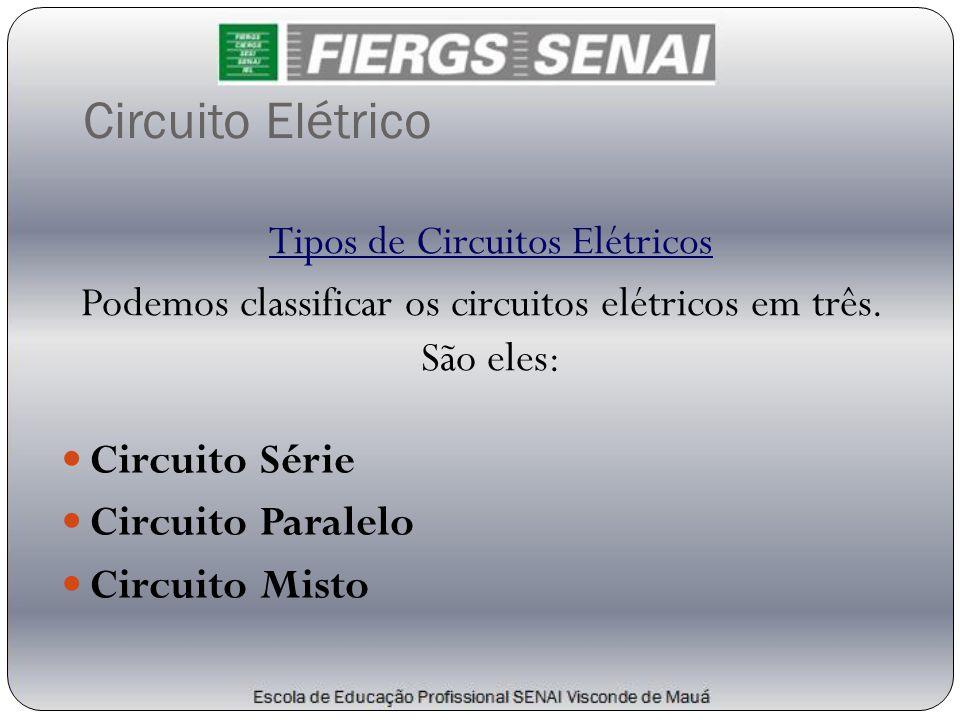 Circuito Elétrico Tipos de Circuitos Elétricos Podemos classificar os circuitos elétricos em três. São eles: