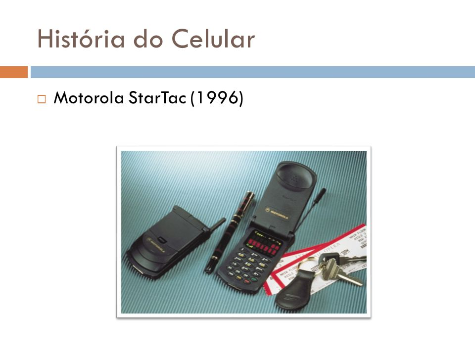 História do Celular Motorola StarTac (1996)
