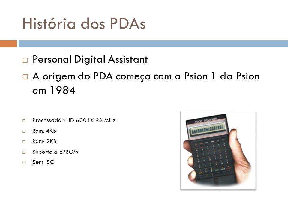 História dos PDAs Personal Digital Assistant