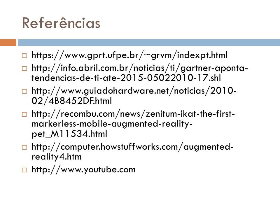 Referências https://www.gprt.ufpe.br/~grvm/indexpt.html