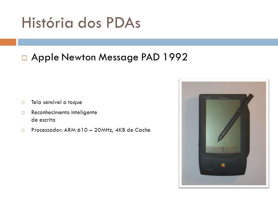 História dos PDAs Apple Newton Message PAD 1992 Tela sensível a toque