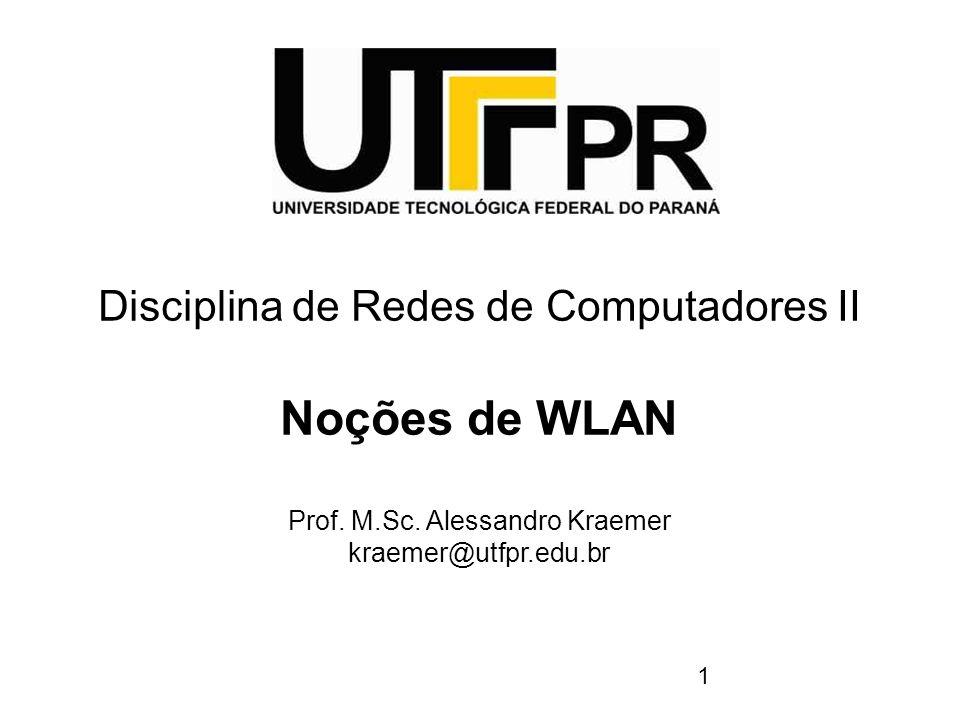 Noções de WLAN Disciplina de Redes de Computadores II