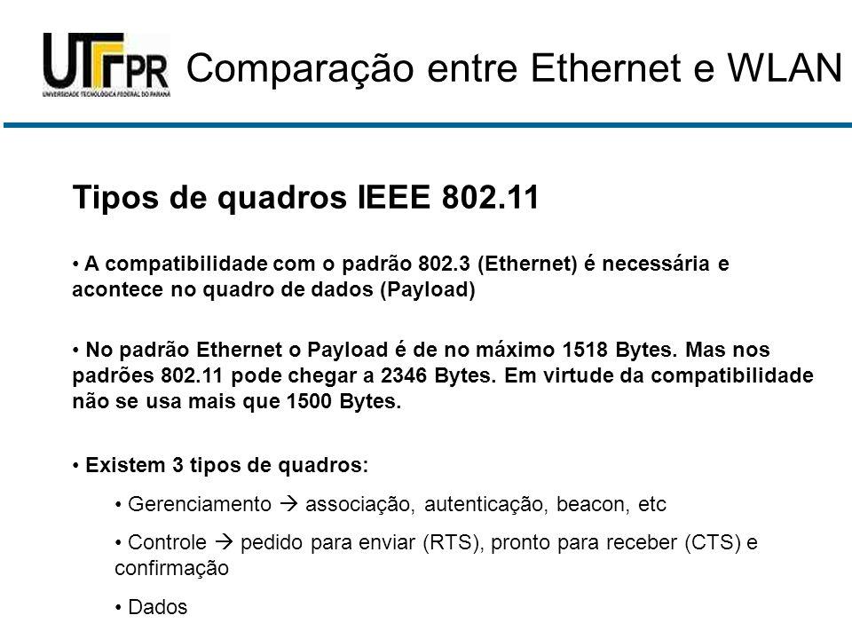 Comparação entre Ethernet e WLAN