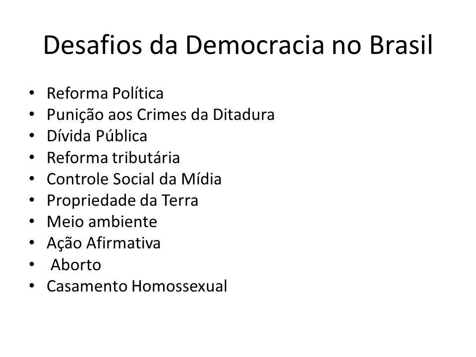 Desafios da Democracia no Brasil