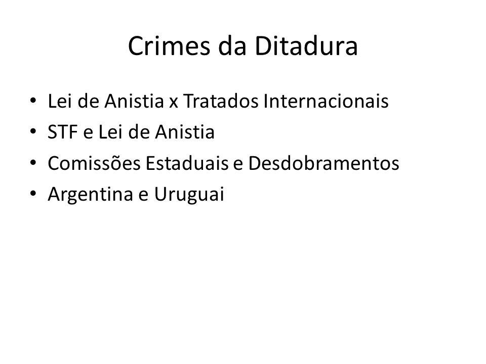 Crimes da Ditadura Lei de Anistia x Tratados Internacionais
