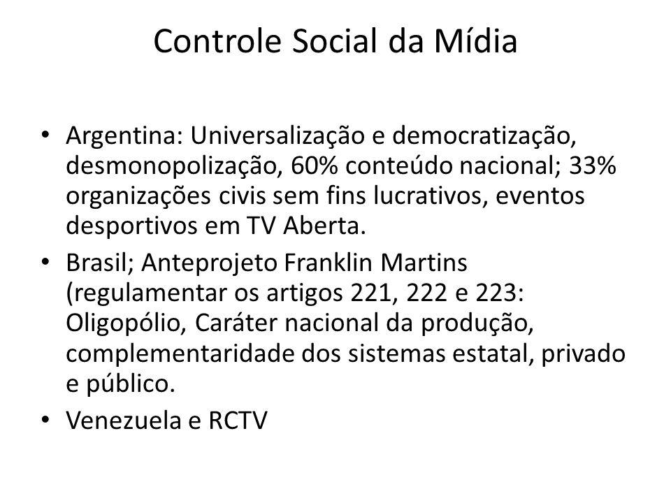 Controle Social da Mídia