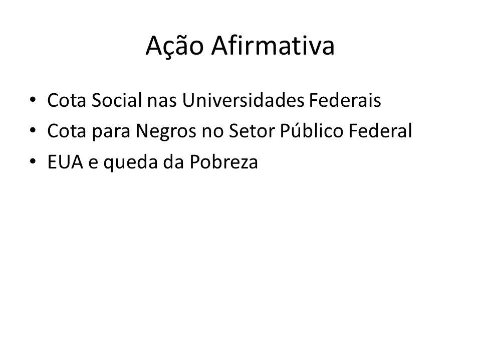 Ação Afirmativa Cota Social nas Universidades Federais