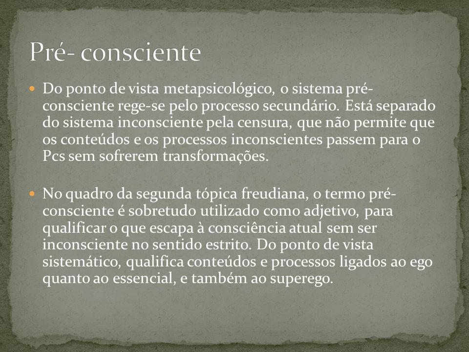 Pré- consciente