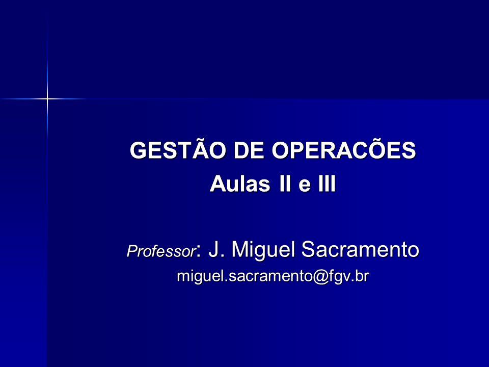 Professor: J. Miguel Sacramento