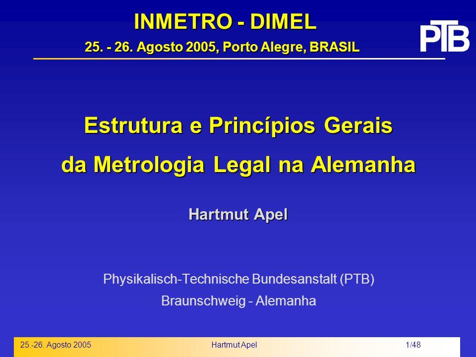 INMETRO - DIMEL 25. - 26. Agosto 2005, Porto Alegre, BRASIL