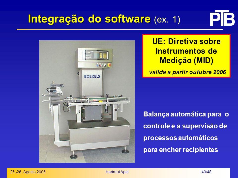 Integração do software (ex. 1)