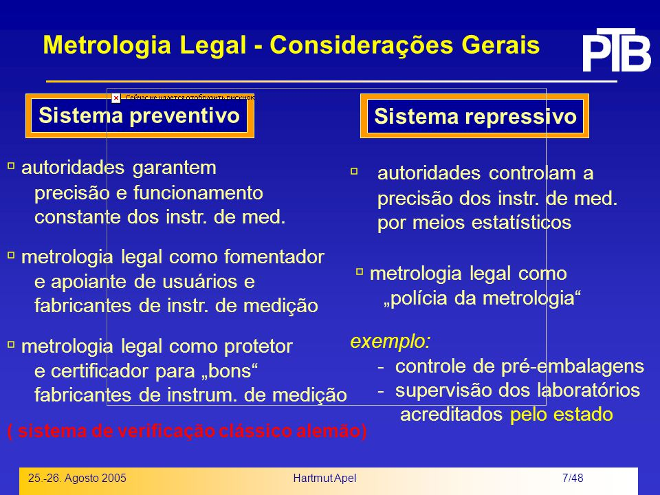 Metrologia Legal - Considerações Gerais
