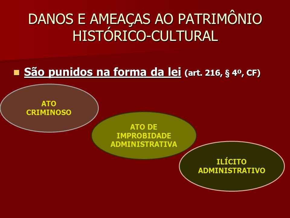 DANOS E AMEAÇAS AO PATRIMÔNIO HISTÓRICO-CULTURAL
