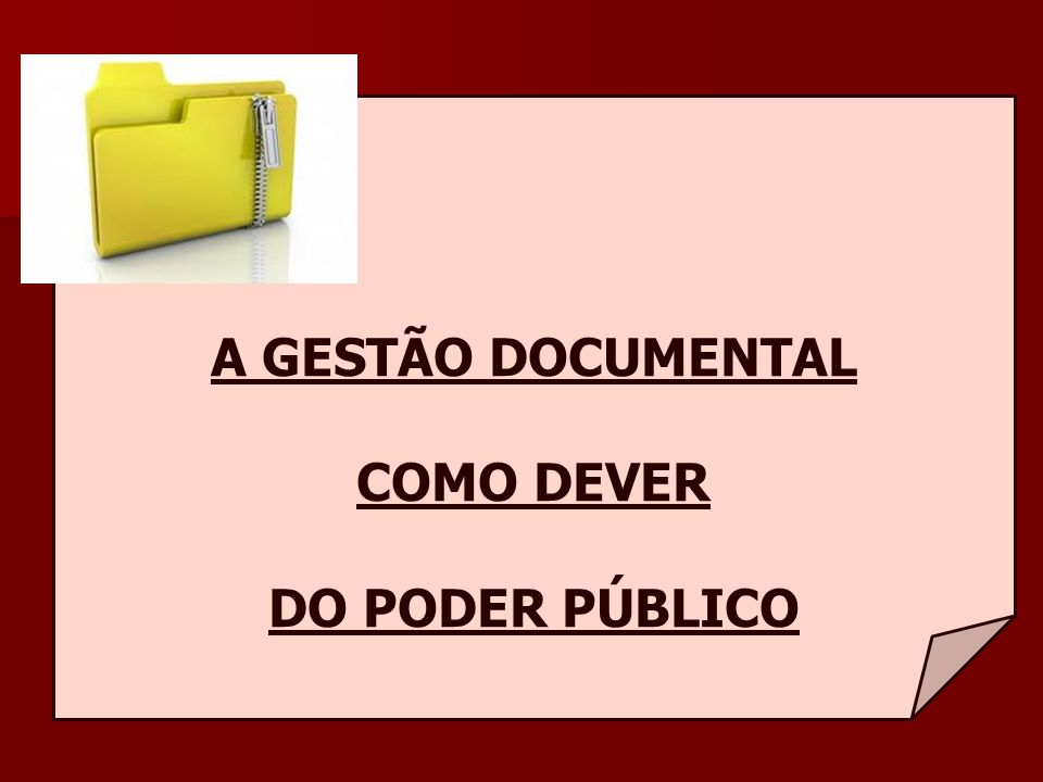 A GESTÃO DOCUMENTAL COMO DEVER DO PODER PÚBLICO