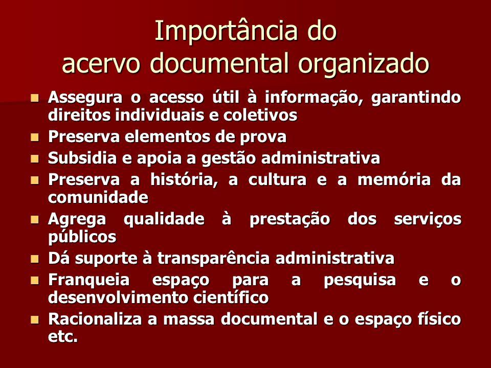 Importância do acervo documental organizado