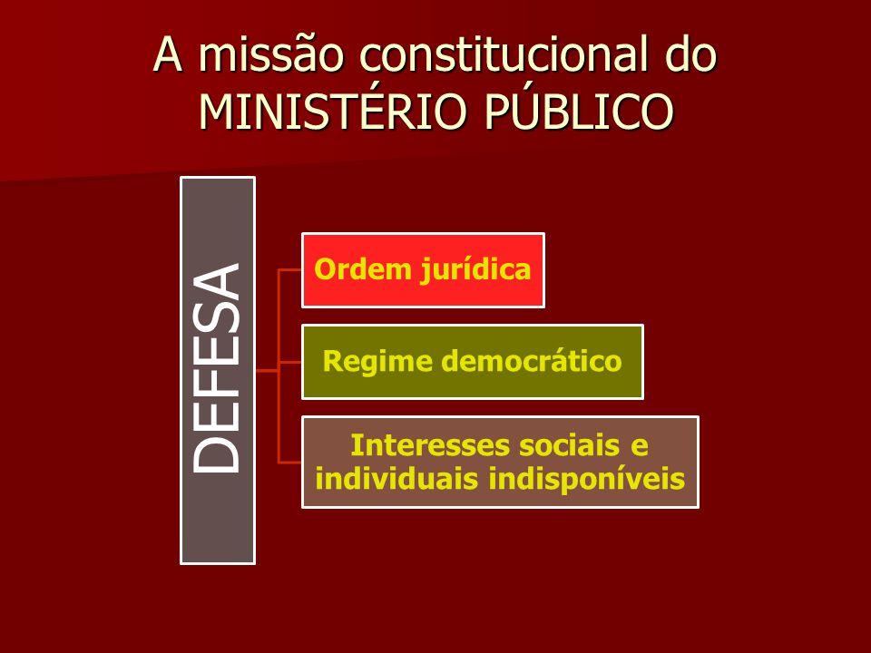 A missão constitucional do MINISTÉRIO PÚBLICO