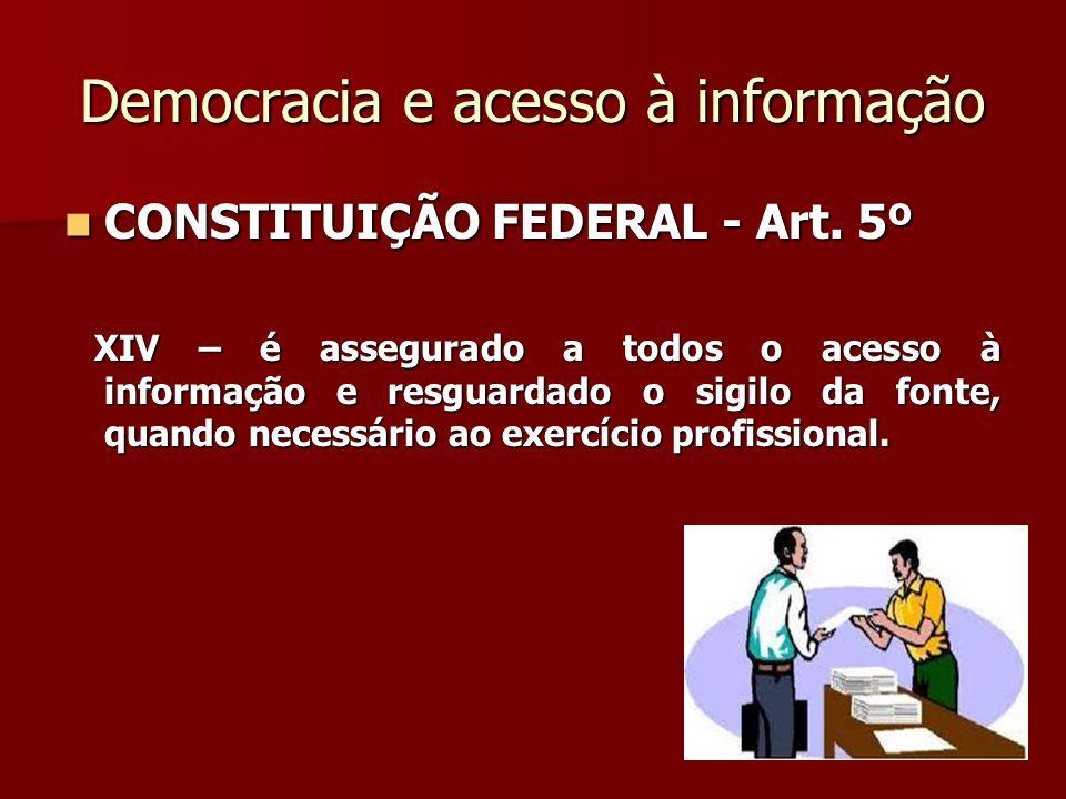 Democracia e acesso à informação