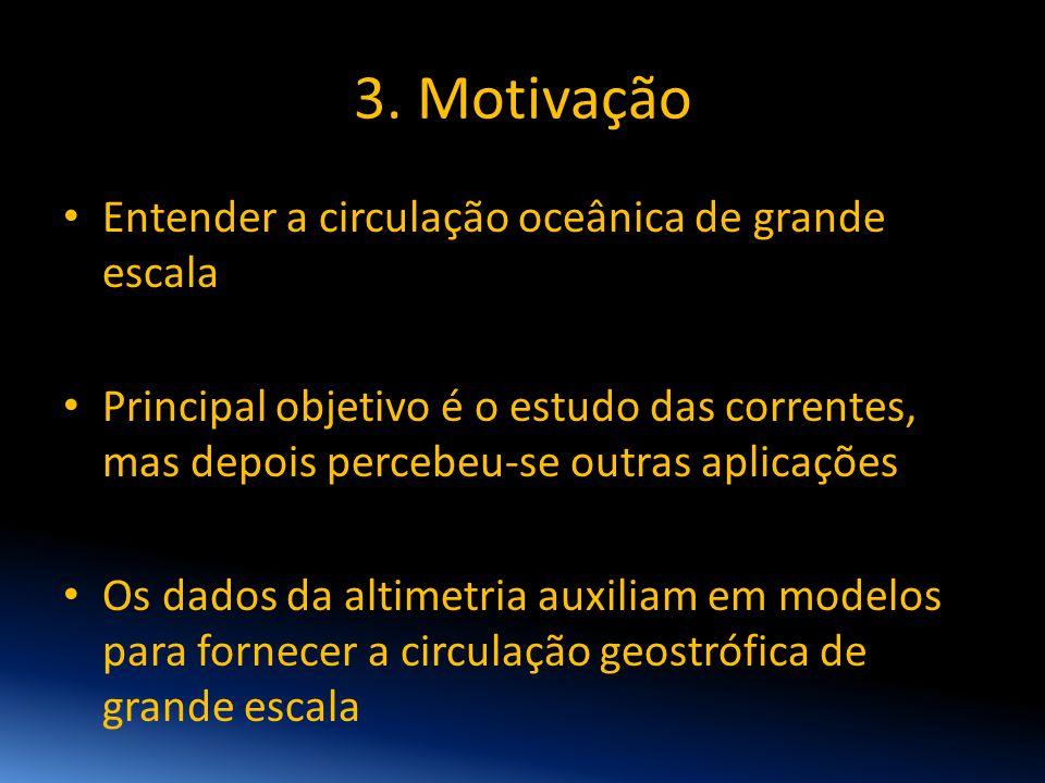 3. Motivação Entender a circulação oceânica de grande escala