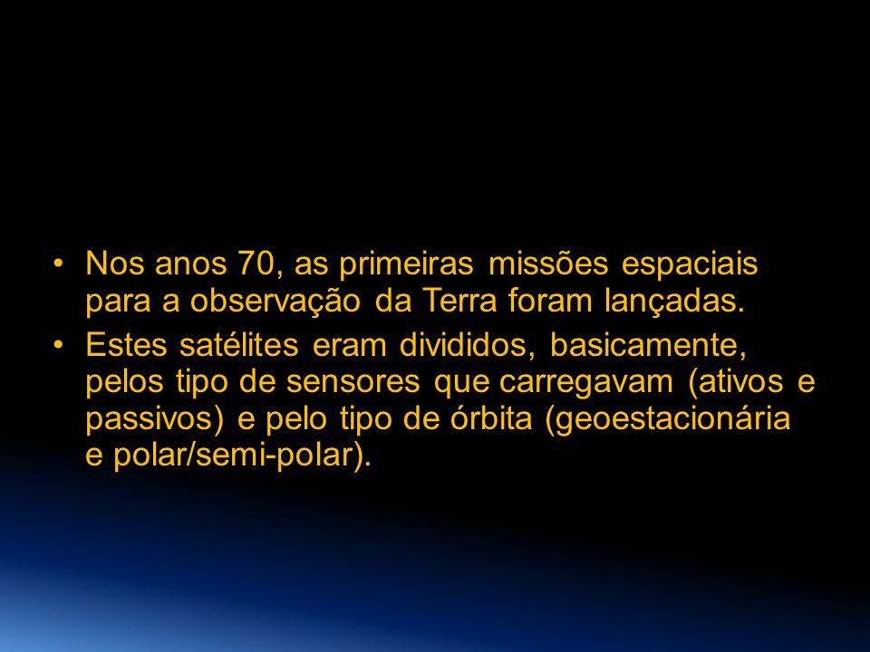 Nos anos 70, as primeiras missões espaciais para a observação da Terra foram lançadas.