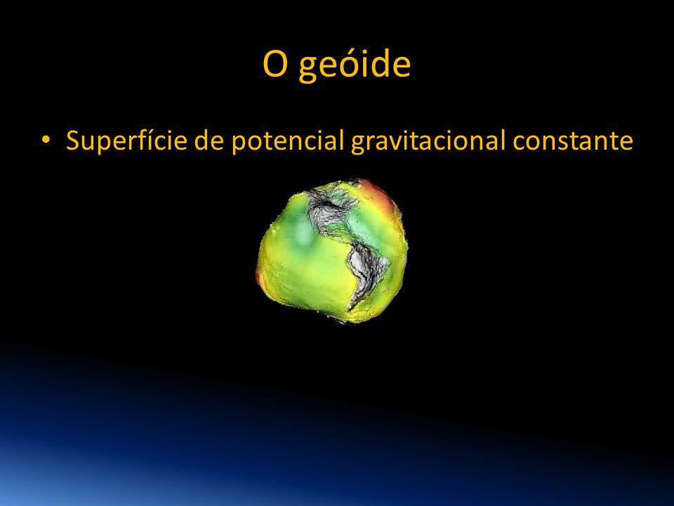 O geóide Superfície de potencial gravitacional constante