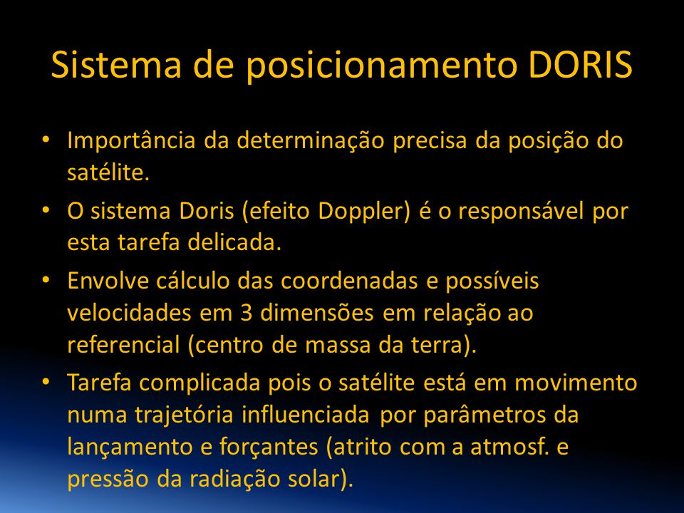 Sistema de posicionamento DORIS