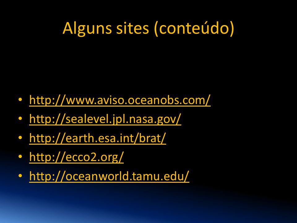 Alguns sites (conteúdo)
