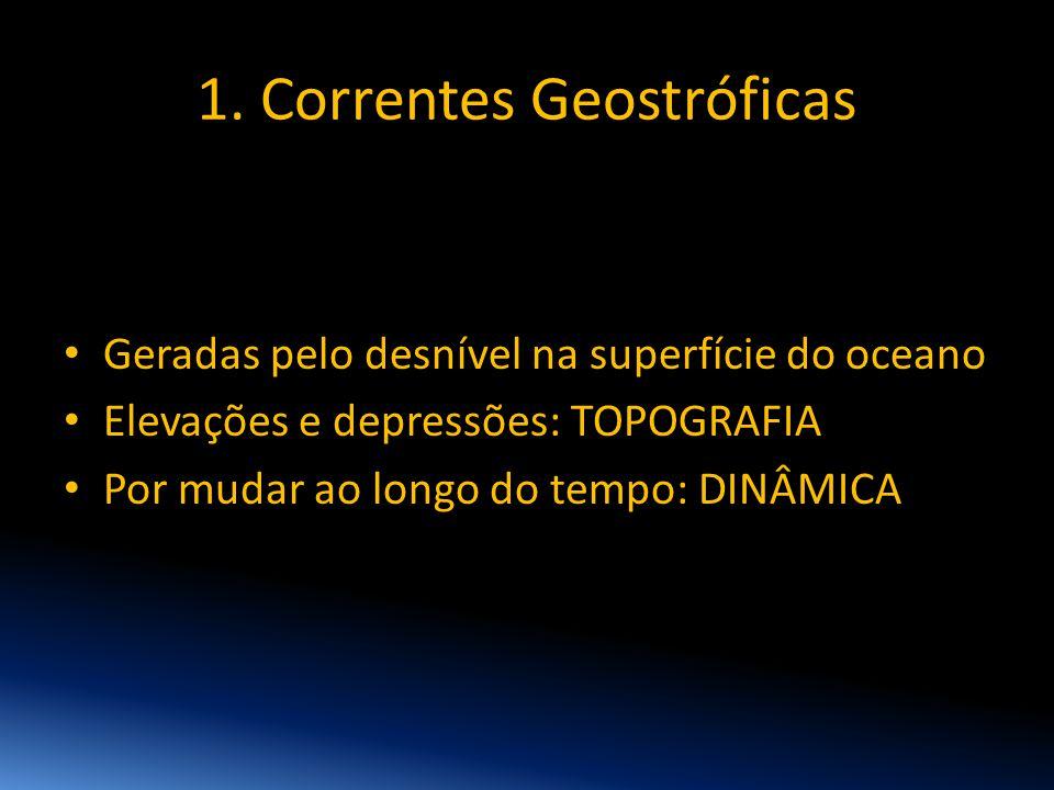 1. Correntes Geostróficas