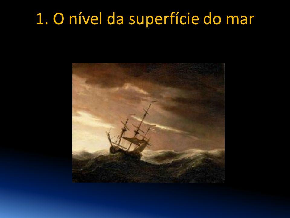 1. O nível da superfície do mar