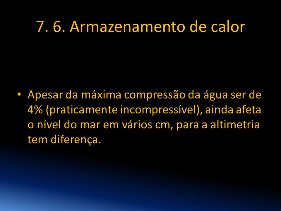 7. 6. Armazenamento de calor
