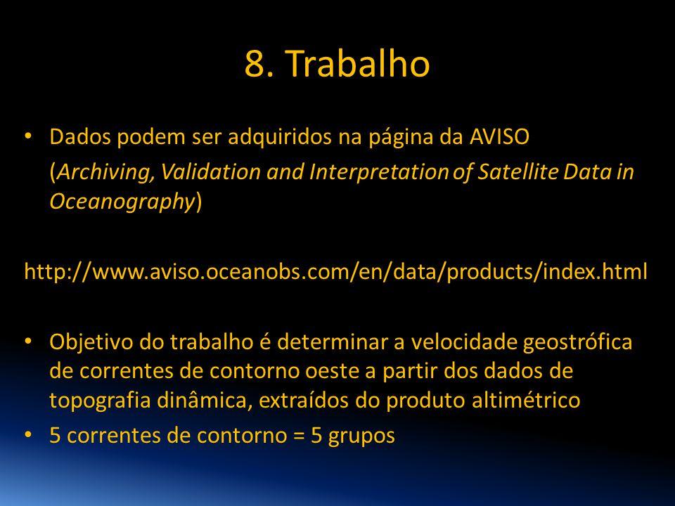 8. Trabalho Dados podem ser adquiridos na página da AVISO