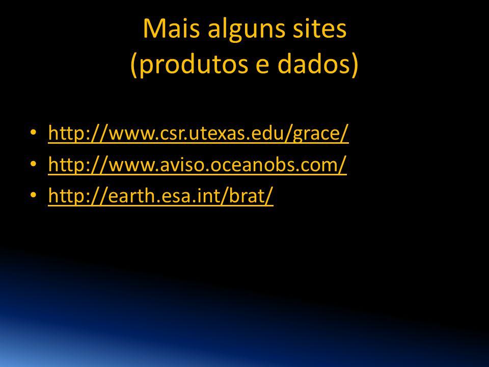Mais alguns sites (produtos e dados)