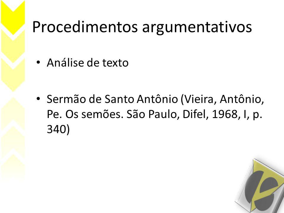 Procedimentos argumentativos