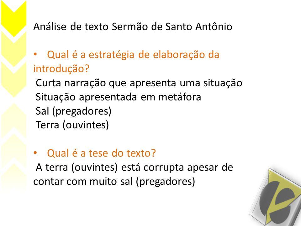 Análise de texto Sermão de Santo Antônio