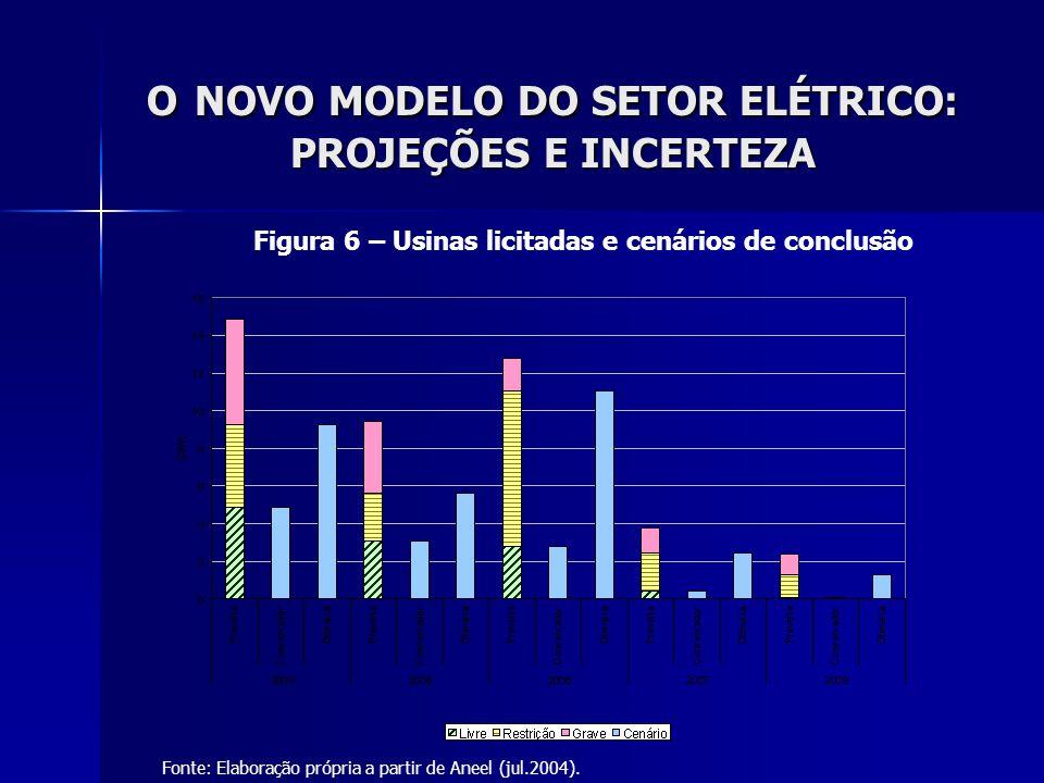 O NOVO MODELO DO SETOR ELÉTRICO: PROJEÇÕES E INCERTEZA
