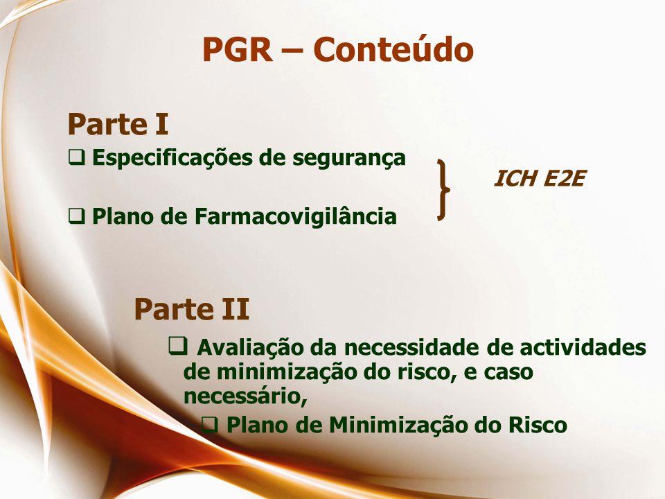 PGR – Conteúdo Parte I Parte II