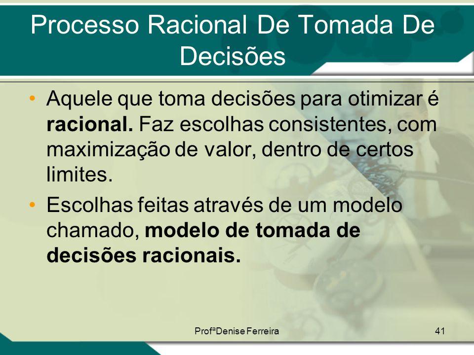 Processo Racional De Tomada De Decisões