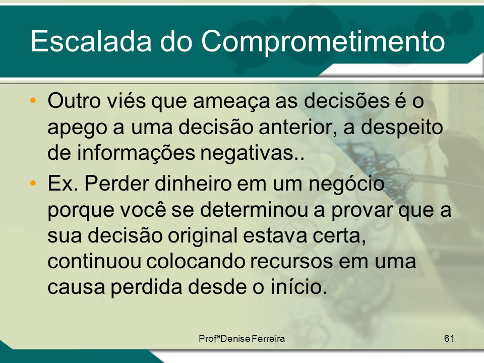Escalada do Comprometimento