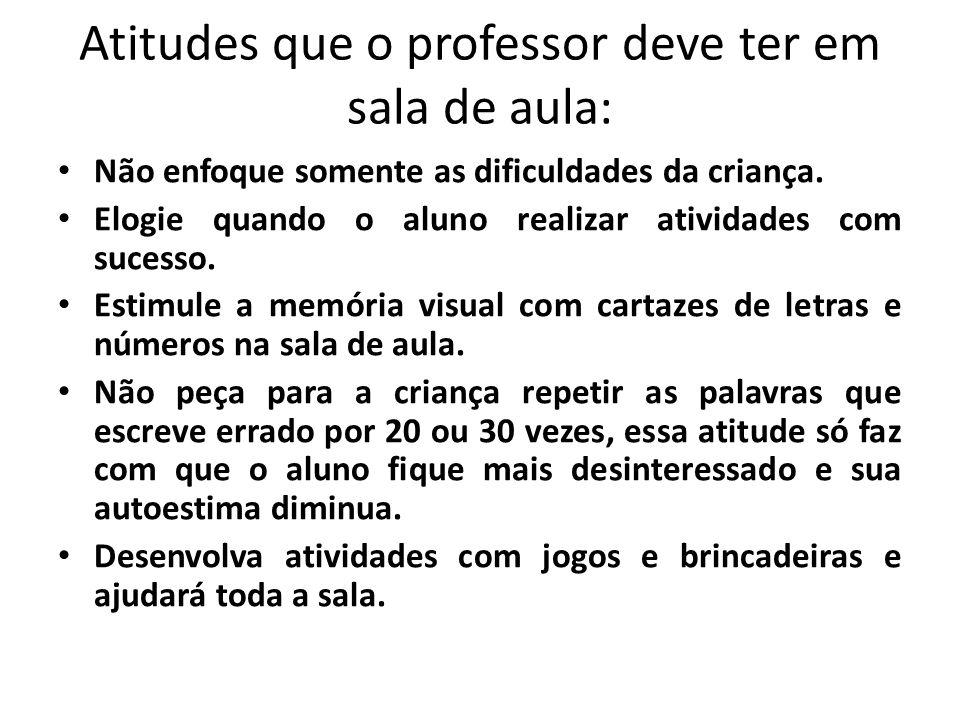 Atitudes que o professor deve ter em sala de aula: