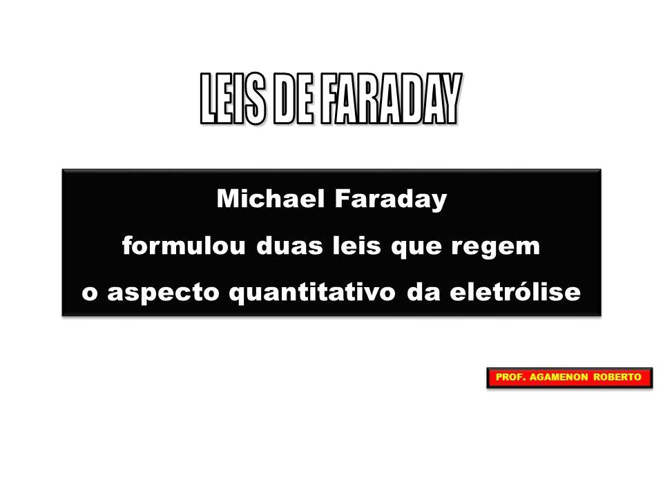 LEIS DE FARADAY Michael Faraday formulou duas leis que regem