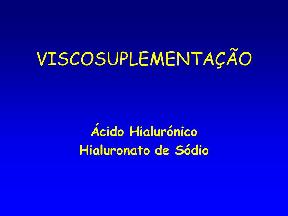 Ácido Hialurónico Hialuronato de Sódio